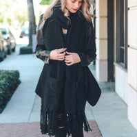 Oversized tassel Scarf with Pockets