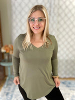 More Than Basic Top in Light Olive
