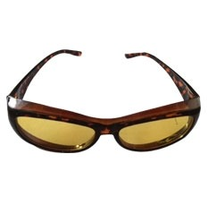 NEW Unisex Night Vision Driving Glasses With Tortoise Frame