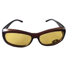 Night Vision Driving Glasses - Burgundy Frame