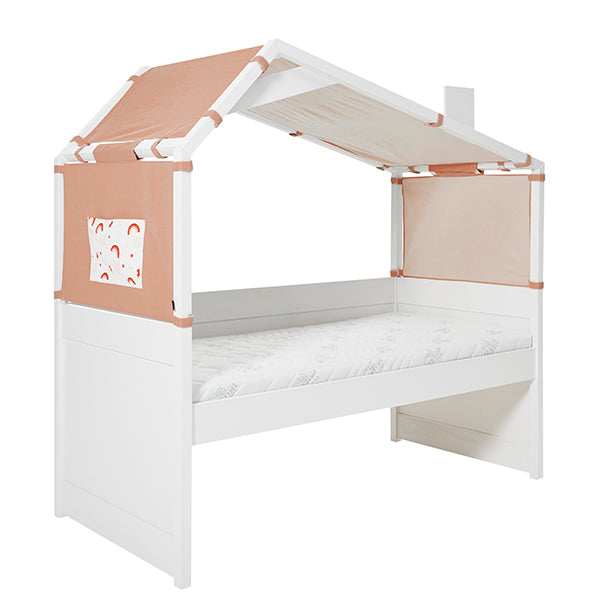Cool Kids cabin bed with hut RAINBOW