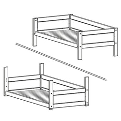Basic bed for 4-in-1 bed