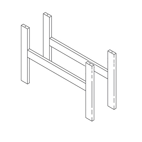 Frame for semi-high beds