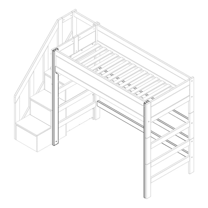 Parts for high bed with side entrance
