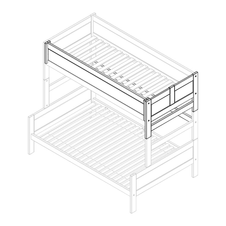 Parts for bunkbed with side entrance
