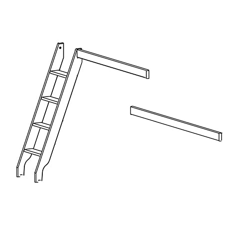 Ladder and parts for family bunkbed