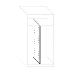 Partition wall in wardrobe base 100 cm