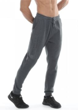 Golds Gym Embossed Jog Pants Charcoal