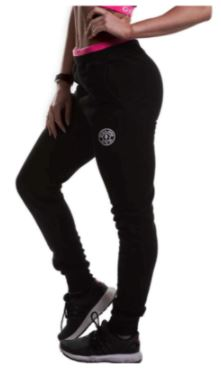 Golds Gym Ladies Fitted Joggers Black