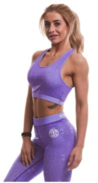 Golds Gym Lilac Sports Crop Top