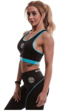 Golds Gym Ladies Sports Crop Top Black / Lilac