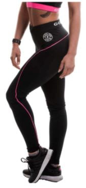 Golds Gym Ladies Sports Leggings Black / Pink