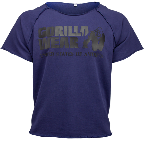 Gorilla Wear Classic Workout Top Navy