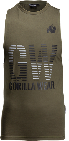 Gorilla Wear Dakota Tank Army Green