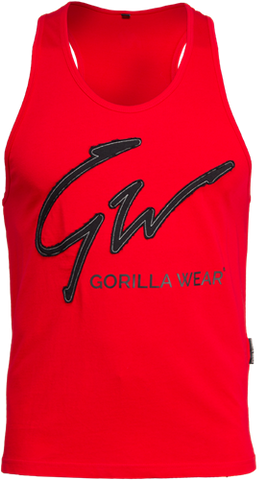 Gorilla Wear Evansville Tank Red