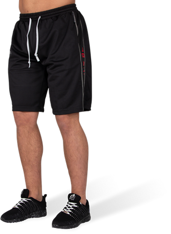 Gorilla Wear Functional Mesh Shorts Black / Red