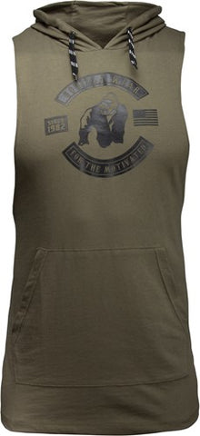 Gorilla Wear Lawrence Hooded Tank Army Green