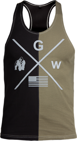 Gorilla Wear Sterling Tank Black / Army Green