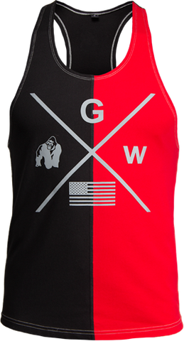 Gorilla Wear Sterling Tank Black / Red