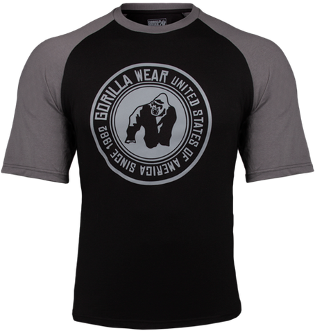 Gorilla Wear Texas Tee Black / Dark Grey
