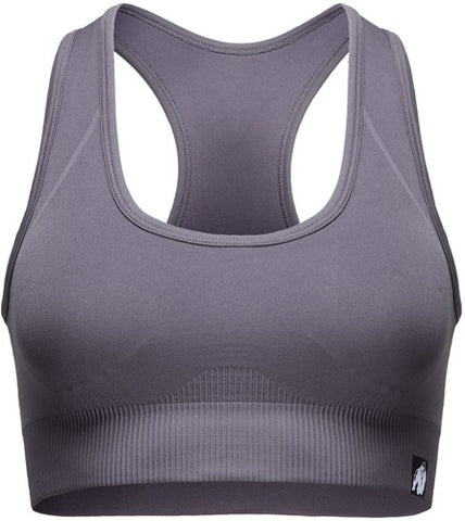 Gorilla Wear Yava Seamless Sports Bra Grey