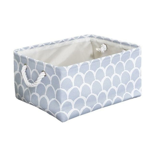 Cube Canvas Fabric Clothes Folding Storage Box With Handle