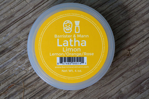 Barrister & Mann Latha Shaving Soap, Limon