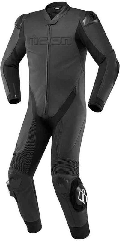 Men Icon Hypersport One Piece Motorcycle Leather Suit