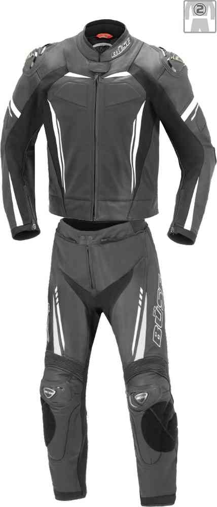 Men Büse Imola Two Piece Motorcycle Leather Suit