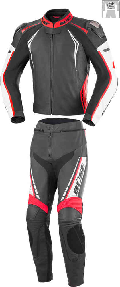 Men Büse Silverstone Pro Two Piece Motorcycle Leather Suit