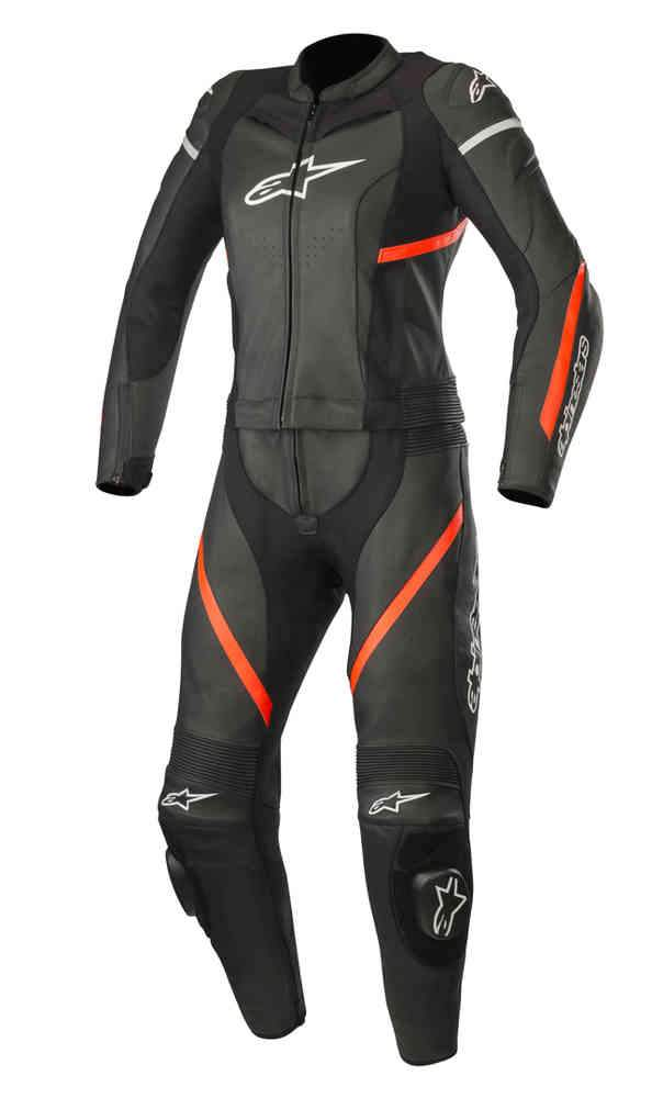 Two Piece Women's Motorcycle Leather Suit