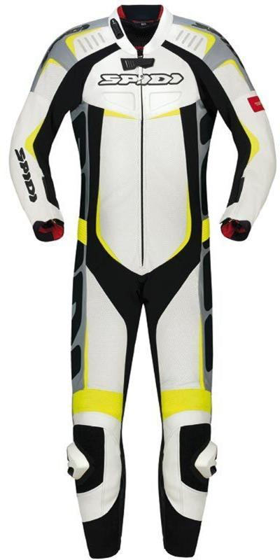 Men Spidi Track Wind Pro One Piece Motorcycle Leather Suit