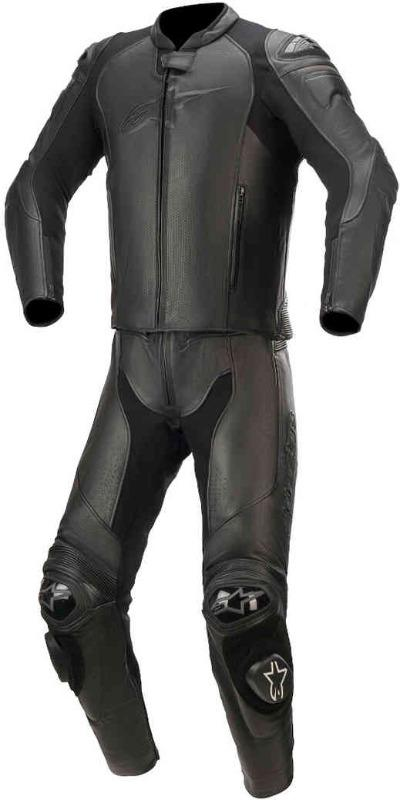 Men Alpinestars GP Plus V3 Graphite Two Piece Motorcycle Leather Suit
