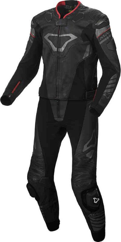 Men Macna Tracktix Two Piece Perforated Motorcycle Leather Suit