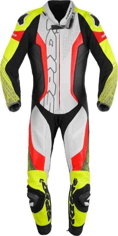 Men Spidi Supersonic Pro One Piece Perforated Motorcycle Leather Suit
