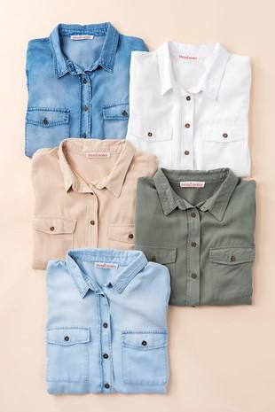 Everyday Basic Button Down Shirt with Collar