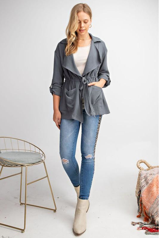 Draped Loose Fit Jacket
