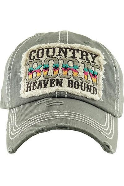 Country Born Heaven Bound Hat