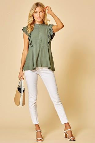 Ruffle It Up Sleeveless Top