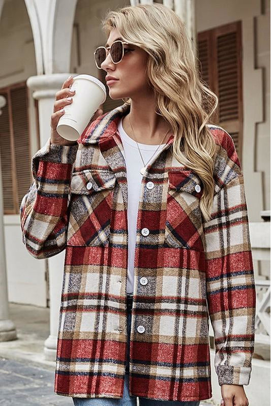 Perfect in Plaid Oversize Jacket