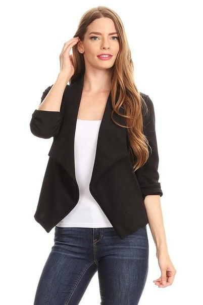 Open Front Blazer (Plus)