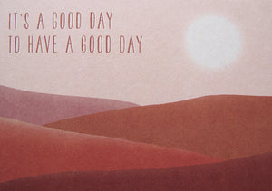 Postkarte – A good day to have a good day