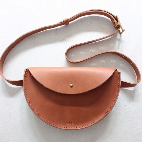 sjaelv - belt bag brown