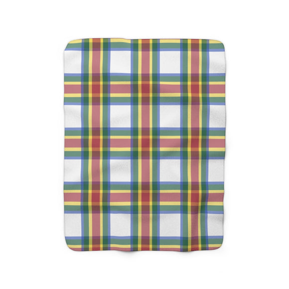 Whiskey Plaid Sherpa Fleece Blanket