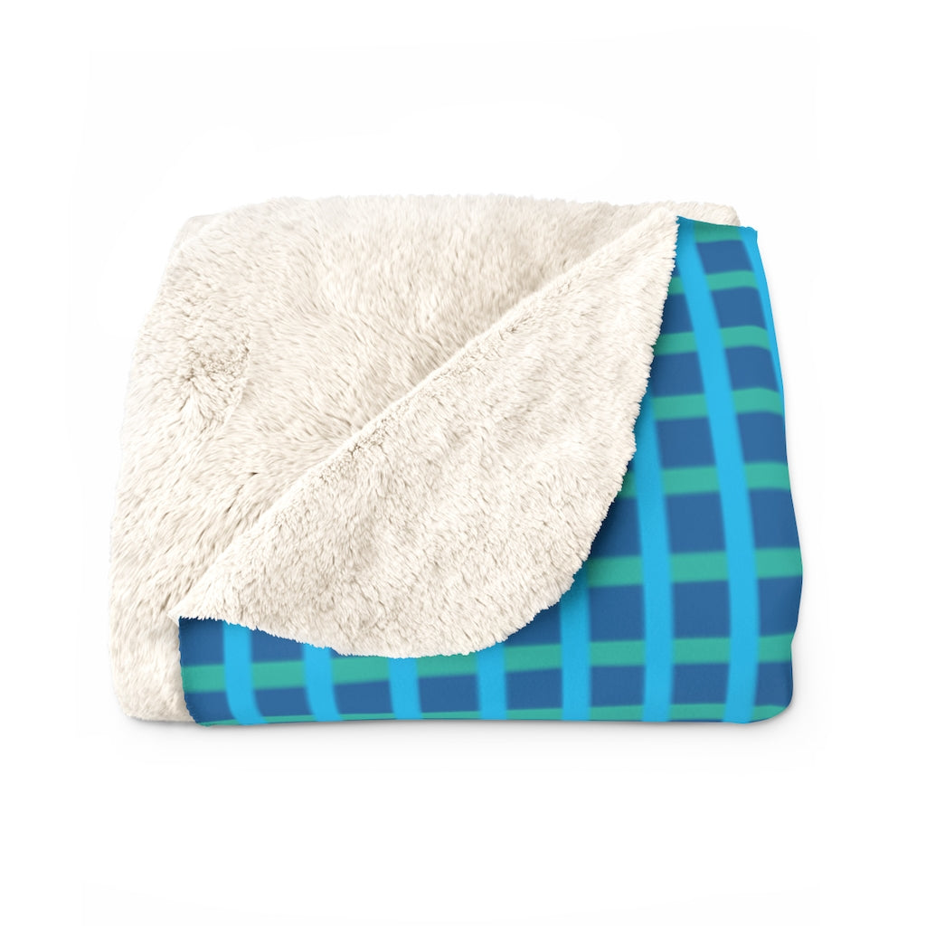 Cricket Sherpa Fleece Blanket (turquoise).