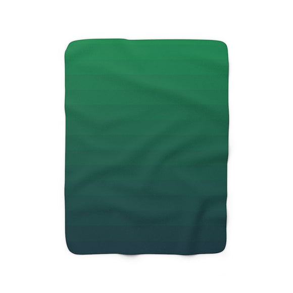 Forest Fade Sherpa Fleece Blanket.