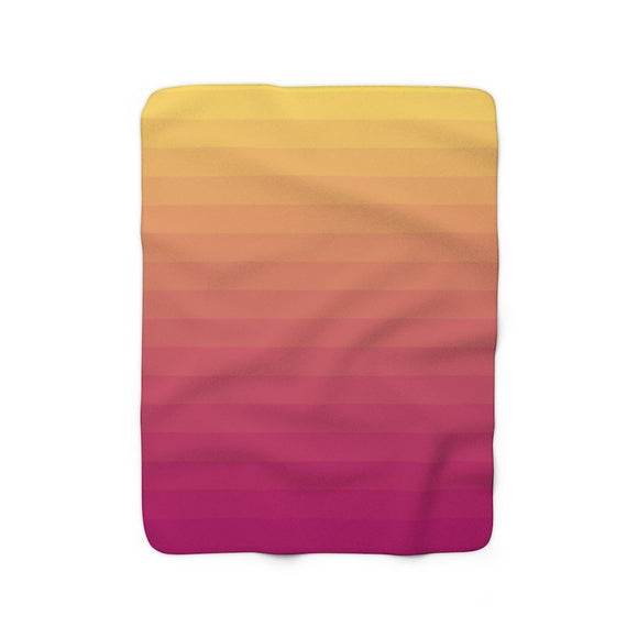 Sunset Fade Sherpa Fleece Blanket.