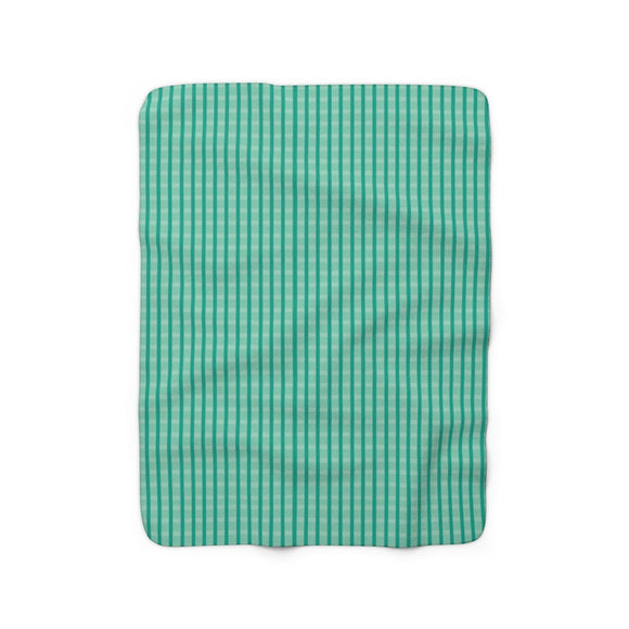 Cricket Sherpa Fleece Blanket (green).