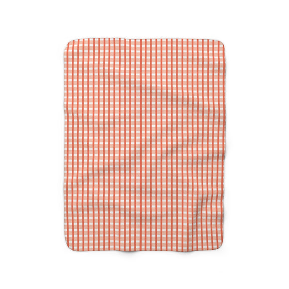 Cricket Sherpa Fleece Blanket (coral).