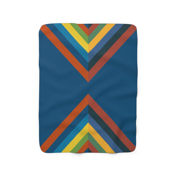 Rainbow Road Sherpa Fleece Blanket.